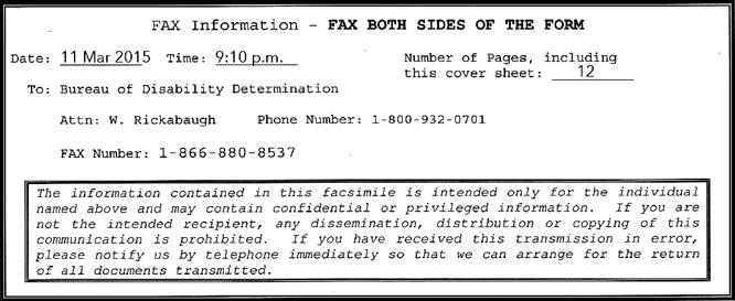 fax info box